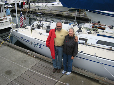 Jim and Sue Corenman, and their beautiful HEART OF GOLD, were berthed next to ADAGIO in Victoria.