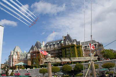 and right over the Empress Hotel in Victoria.