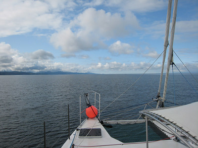 Heading west in the Strait of Juan de Fuca towards Neah Bay, Washington