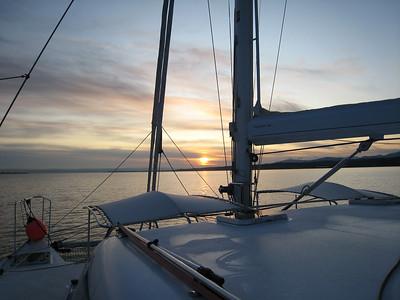 Strait of Juan de Fuca at dawn