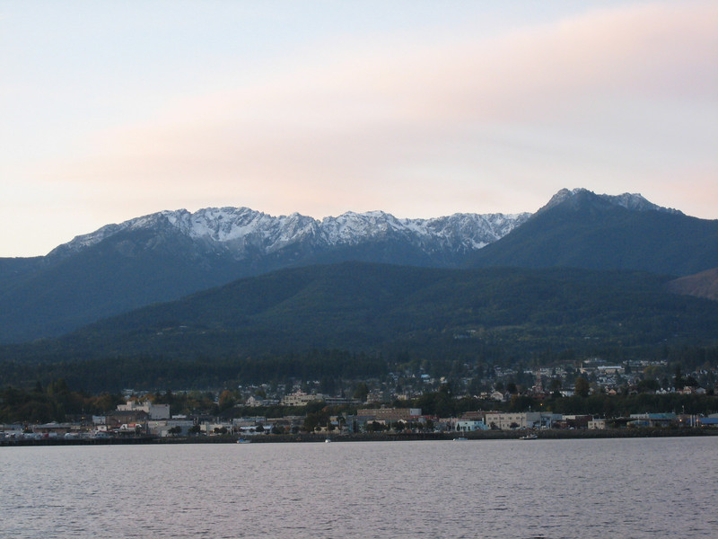 The Olympic Mountains made a wonderful backdrop as we approached Port Angeles.