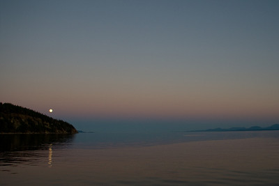 Full moon rise in Tribune Bay, Hornby Island