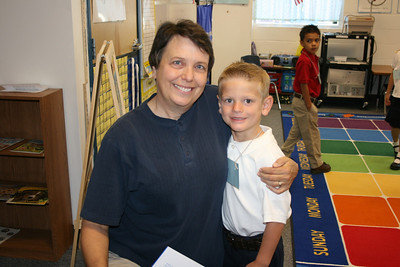 Ryan and Mrs. Miller, Kindergarten Teacher