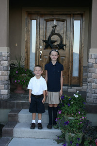First Day of School--Emme & Ryan