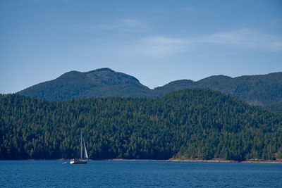 SHINGEBISS II Sailing from Pendrell Sound to Walsh Cove
