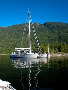 ADAGIO anchored at Walsh Cove