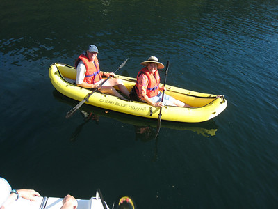 John and Jenny trying out our kayak at Walsh Cove