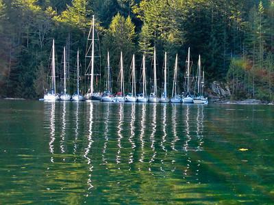 Rafting at Walsh Cove