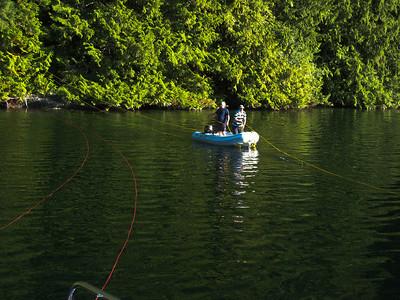 Taking a line ashore at Tenedos Bay
