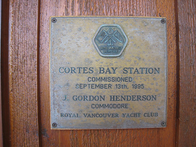 Plaque at the yacht club outstation club house