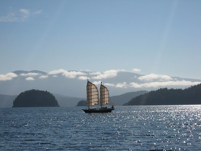 S/V TYSTIE, owned by David and Fran Tyler, Cortes Bay to Teakearne Arm
