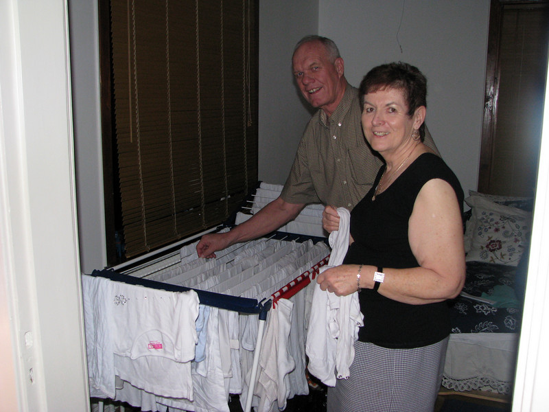 The Jepsons doing Laundry