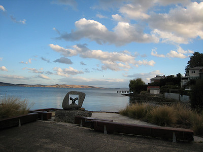 One of our favorite views of the River Derwent, from Battery Point neighborhood.