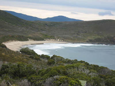 Head of bay to the east of Cape Bruny