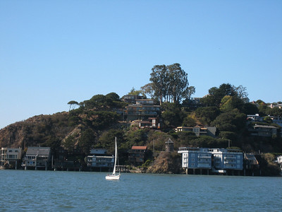 Our house in Tiburon, above the Lyford Tower