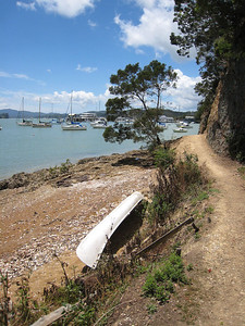 Much of the track is like this section. Carved into the cliffside. Maintained by locals, mostly yachties, for the benefit of all. Thank you!