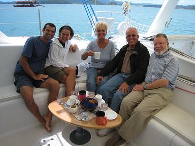 L -> R: PAJET: Mario & Paula, KARMA: Krista & Richard, ADAGIO: Steve (Dorothy is behind the lens)