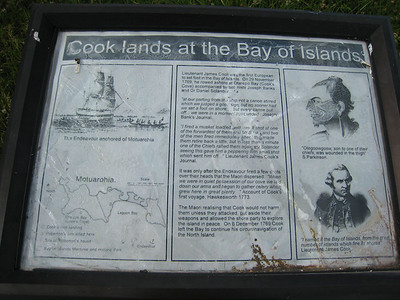 Captain Cook seems to have left his footprints everywhere in our favorite cruising grounds.