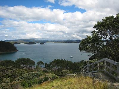Roberton Island, pa site lookout - Adagio anchored.