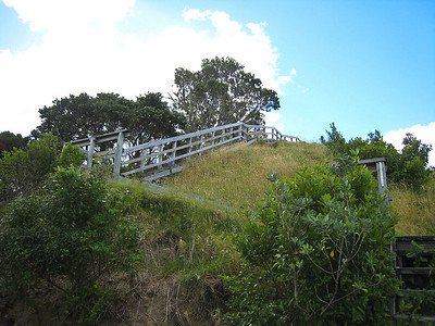 The last hundred steps to the Pa site lookout.