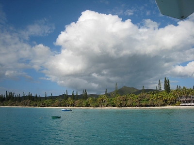 View from our anchorage in Kuto Bay, Isle of Pines