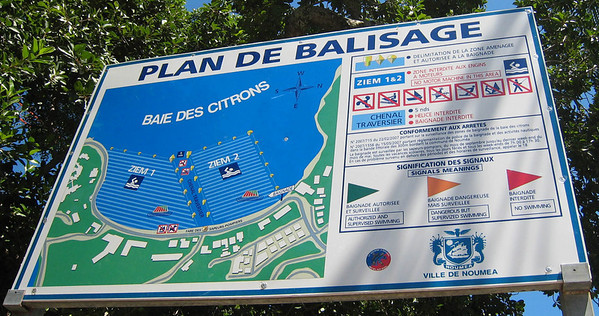 Map of the swimming areas at Baie des Citrons