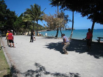 Boules at Anse Vata beach