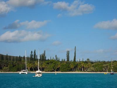 ADAGIO at anchor in Kuto Bay, Isle of Pines