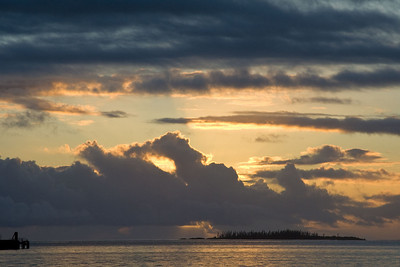 Some of our prettiest sunset photos come from our anchorage at Kuto Bay, Isle of Pines.