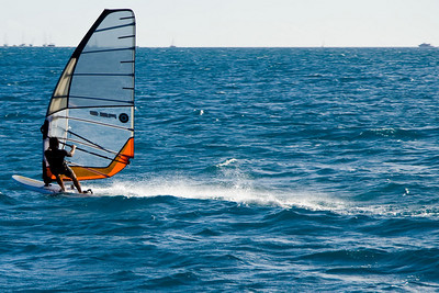 Wind surfer sequence at Isle aux Canards as we return to Nomea.