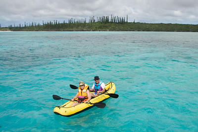 Penelope and George returned in style from a paddle around the reefs.