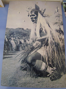 Photo of a Kunie dancer at the Visitor Center in Vao