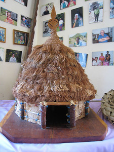 Model of a native village house in Vao