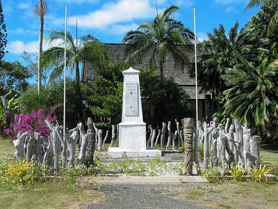 War memorial shrine in Vao