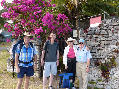 Ian, Andrew, Dorothy and Steve in front of the old colonial walls in Kuto Bay