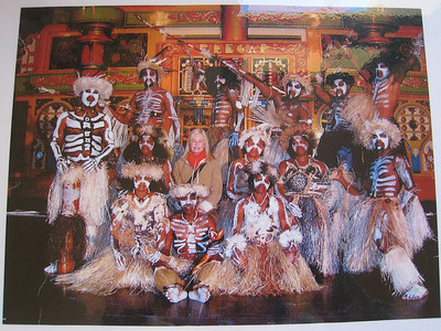 Photo of Kunie dancers at the Visitor Center in Vao