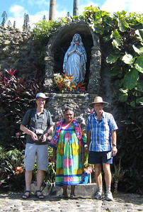 Andrew and Ian met the caretaker of a small shrine in Vao