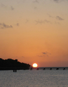 Sunset ended our day at Kuto Bay.