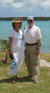 Steve and Cleo at Kuto Bay
