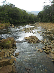 In spite of the mining, the streams run clear.