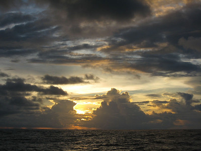 Sunset in the ITCZ