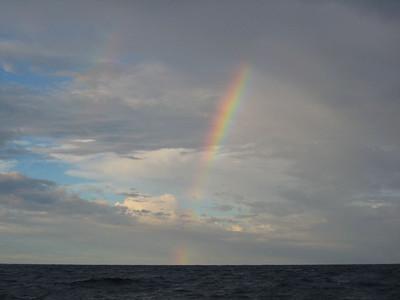 Rainbows to leeward