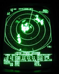 The radar shows the squalls around us.