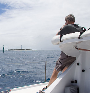 Andrew and Amadee Lighthouse as we departed New Caledonia