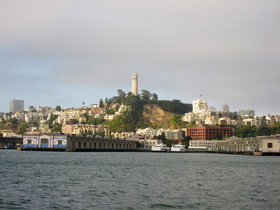 Coit Tower and Telegraph Hill were just inside the sunshine zone.