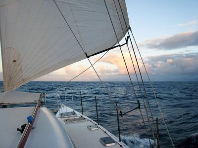 Beautiful morning sailing