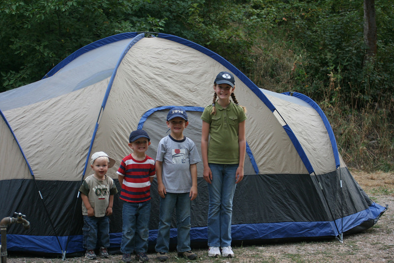Hobblecreek Canyon Camping Trip--So excited to sleep in the tent!
