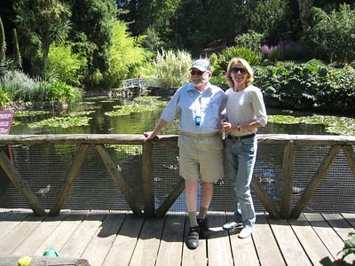 Steve and Arlene at the garden pond