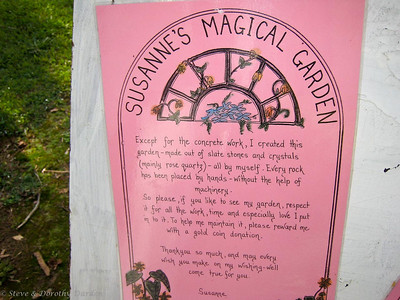 Susanne invited us to visit her Magical Garden.