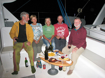 Frank, Jane, Donna and Dave came aboard ADAGIO for drinks and nibbles.